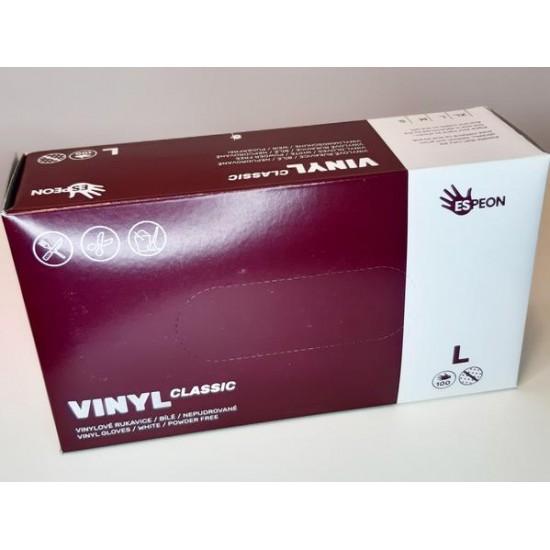 Vinylové rukavice - veľkosť L